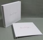 3 Piece portfolio and slipcase in white