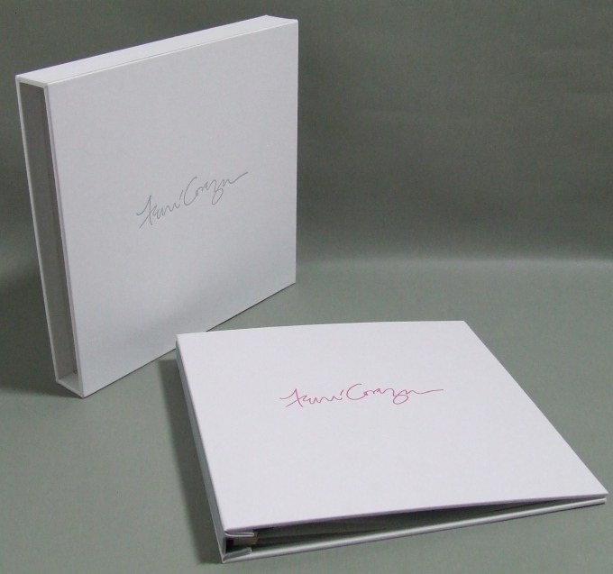 3 Piece portfolio and slipcase in white