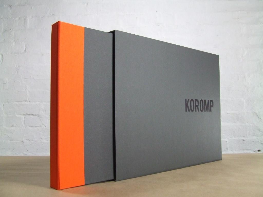 2 fabric full case portfolio with one color slipcase