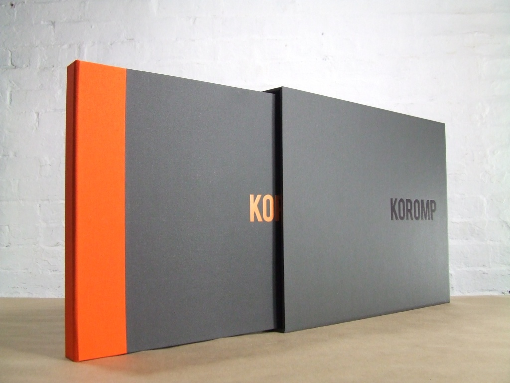 2 fabric full case portfolio with one color slipcase