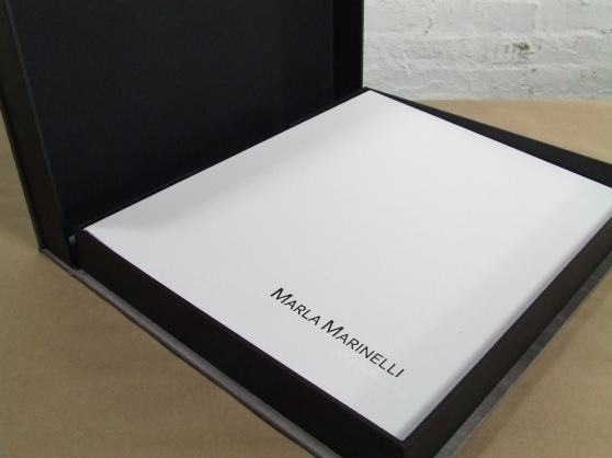 Custom made portfolio book, made in Maine