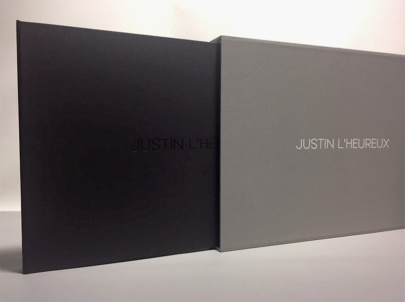 Full Case Style Photography Print Portfolio built by Mullenberg Designs for Photographer Justin L'Heureux