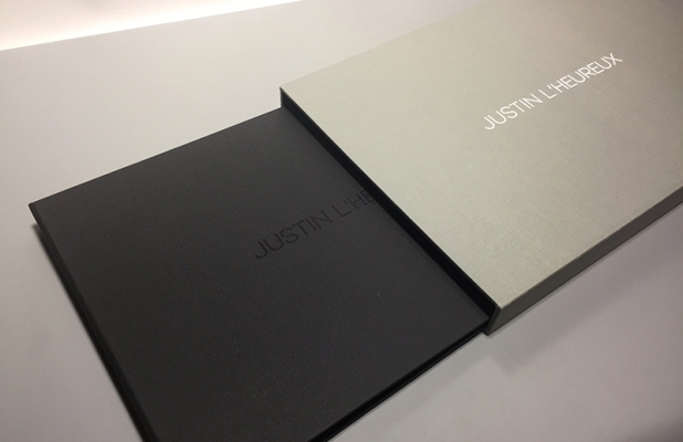 Full case Photography Print Portfolio with Slipcase built by Mullenberg Designs