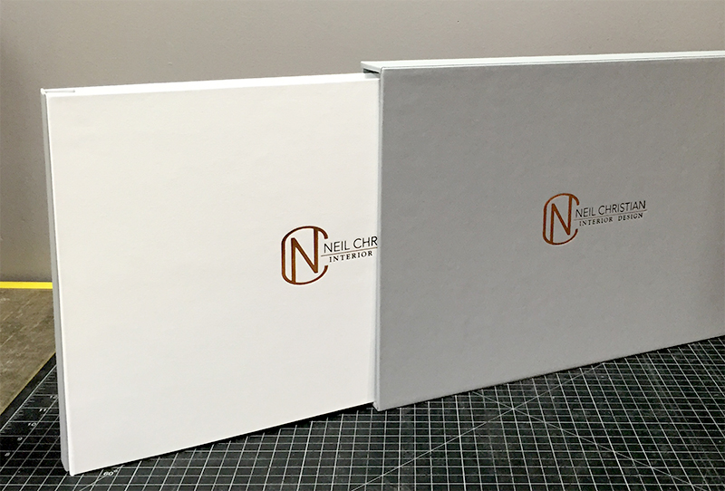 3-Piece Portfolio and Slipcase built by Mullenberg Designs for Interior Designer Neil Christian