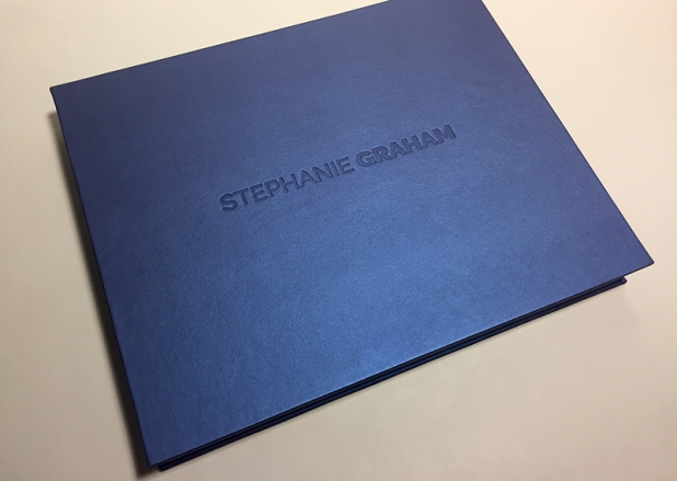 2-Piece Clamshell Presentation Case built by Mullenberg Designs for Photographer Stephanie Graham