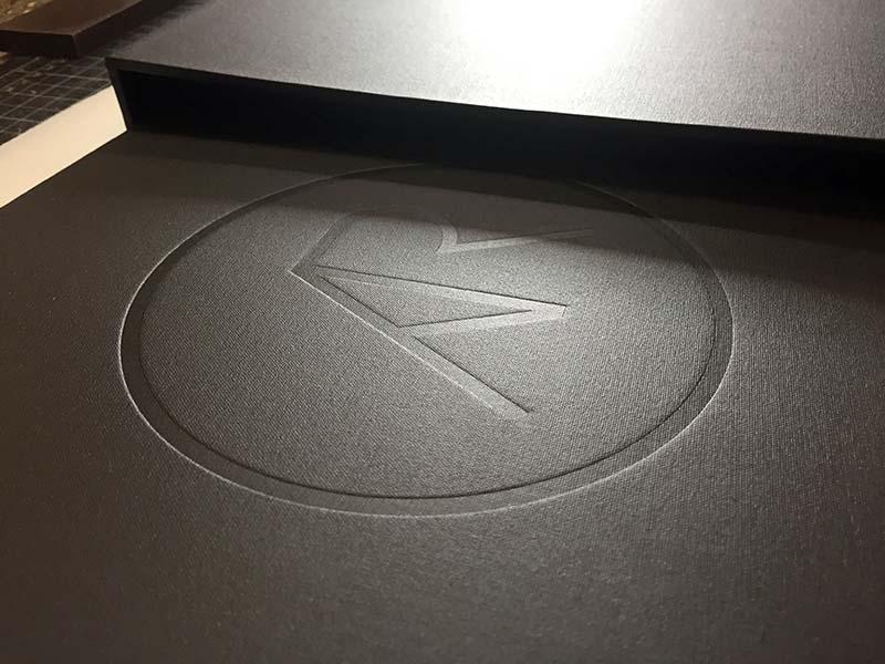 mullenberg designs blind logo deboss