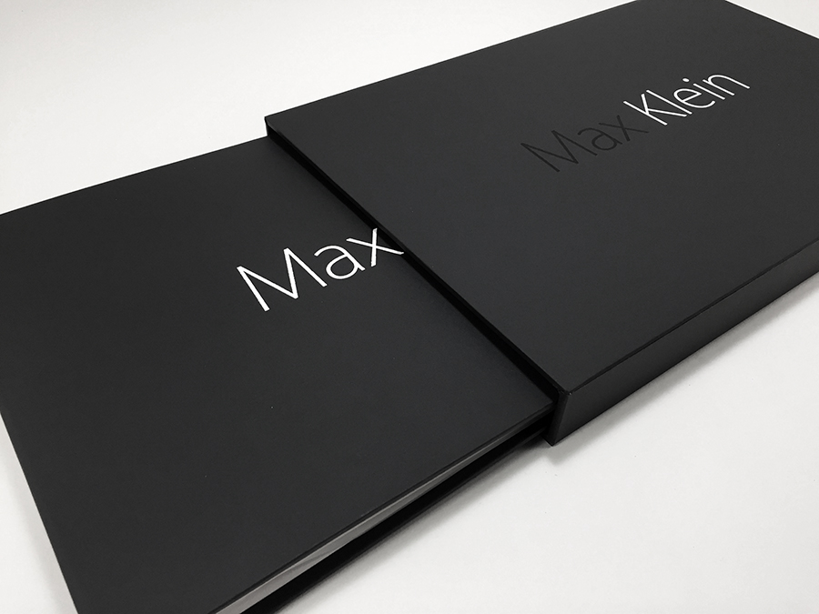 Print Portfolio and Slipcase built by Mullenberg Designs for Photographer Max Klein