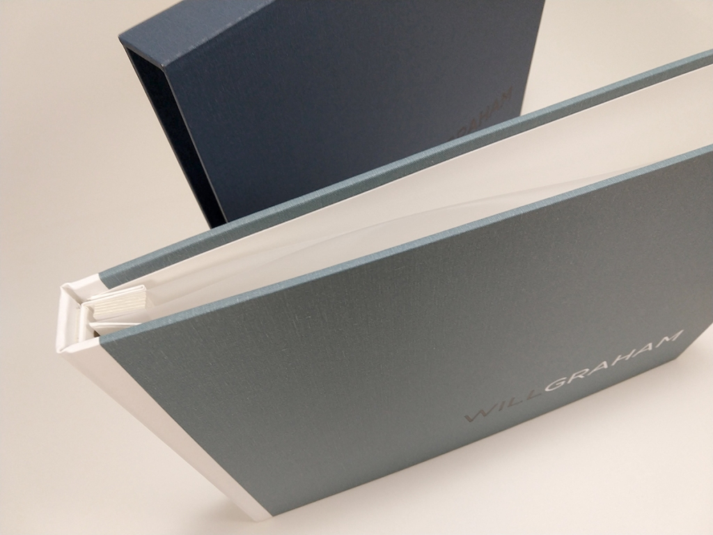 Full-case Portfolio and Custom Slipcase built by Mullenberg Designs