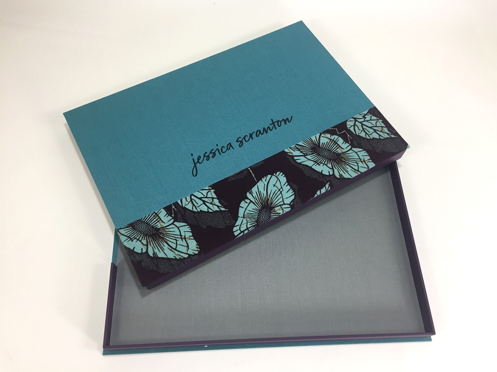 2-Fabric Cover Custom Print Presentation Box built by Mullenberg Designs